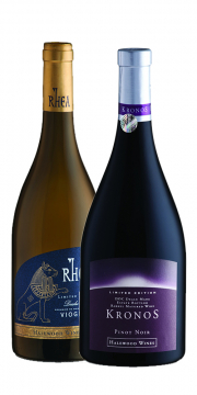 Kronos Limited Edition Pinot Noir + Rhea Limited Edition Viognier