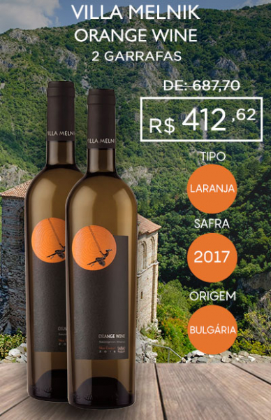 Villa Melnik Orange Wine - 2 garrafas