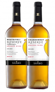 Shabo Orange Wine Chardonnay Reserve + Shabo Orange Wine Rkatsiteli Reserve